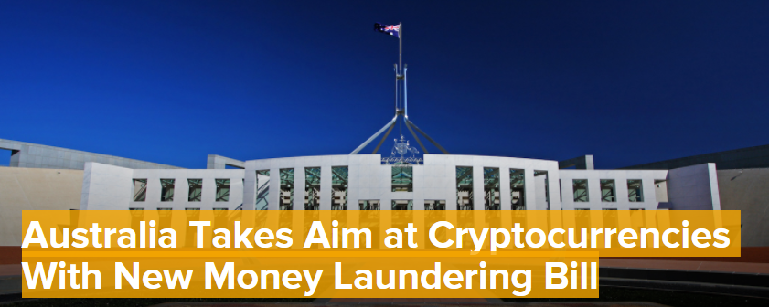 Australia Takes Aim at Cryptocurrencies With New Money Laundering Bill